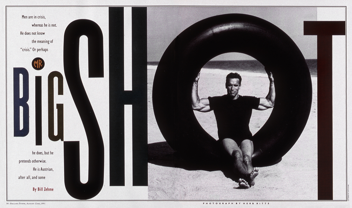 Arnold Schwarzenegger. Photographed by Herb Ritts