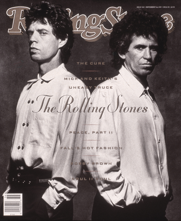 Mick Jagger, Keith Richards. Photographed by Albert Watson