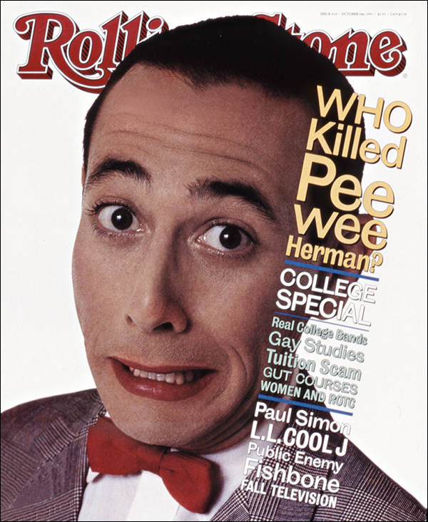 Pee Wee Herman. Photographed by Herb Ritts